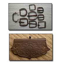 Old buckles and purse closure