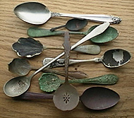 Collection old spoons