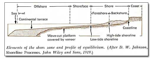 Elements of shore zone