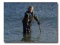 Carol in waders