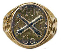 Civil War Army Military Ring 10k Gold