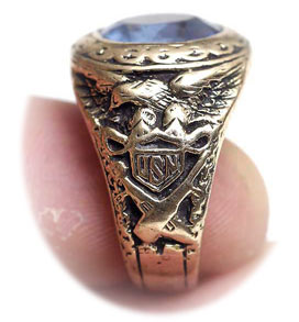 US Navy Ring Gold Vintage